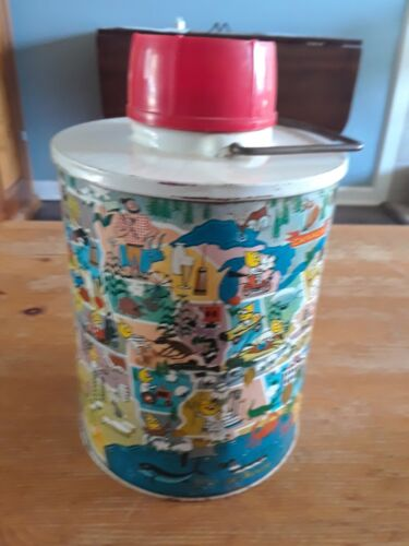Vintage MR. ESSO Travel Jug/Thermos by SKOTCH KOOLER Gasoline Advertising 1960s