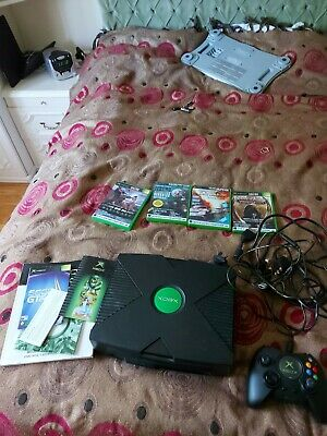 Microsoft Xbox Black Video Game Console - X08-48873 READ DISCRIPTION