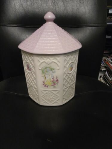 """PFALTZGRAFF POTTERIES """"CAPE MAY"""" COOKIE JAR WITH FLORAL DESIGN"""