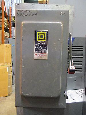 Square D H363 100 Amp 600 Volt Fusible NEMA 1 Disconnect, D Series