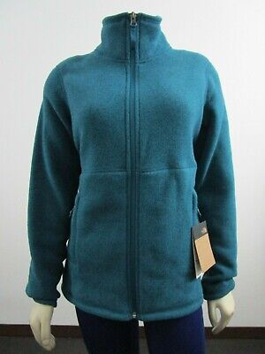 NWT Womens The North Face Crescent Midweight Soft Fleece Full Zip Jacket - Blue