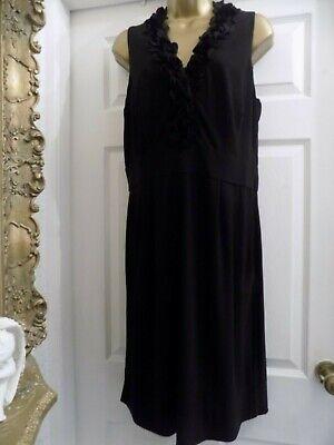 Julian Taylor Ladies Black Ruffle Detail Stretchy Party  Dress size 12