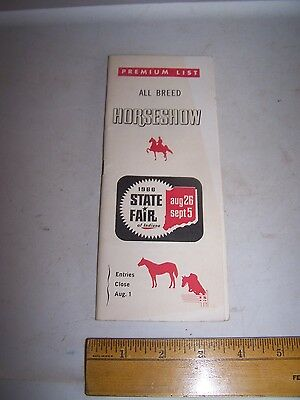 1966 INDIANA STATE FAIR All Breed Horse Show Program