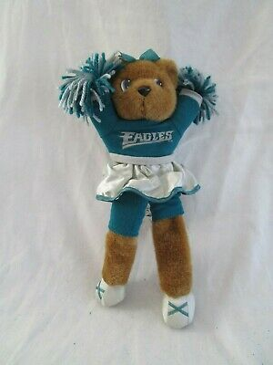 """1997 13"""" Plush NFL Eagles Cheer Leader Bear  by STUFFINS INC. for sale  Wernersville"""