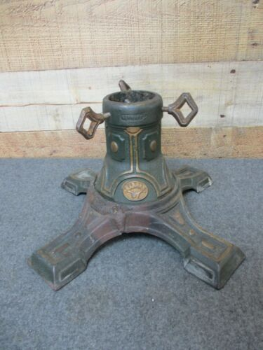 Vintage Antique HARRAS Cast Iron Christmas Tree Stand Germany