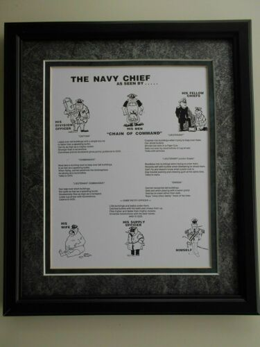 """ The Navy Chief ""  as seen by                                  Navy framed art"