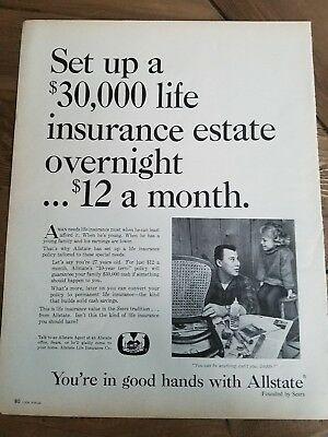 1964 Allstate  30 000 Life Insurance Estate Overnight Ad