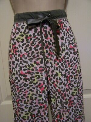 Jenni Animal Print Lounge or Pajama Pants Elastic-Drawstring Waist Cotton-Modal ()
