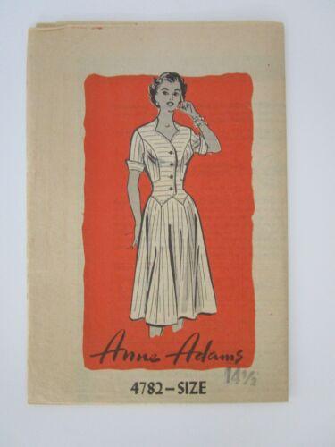 Vintage Sewing Pattern - Anne Adams Dress - #4782 - Size 14 1/2