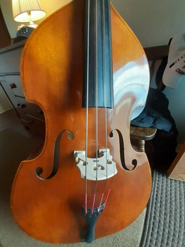 C.Meisel 1/2 size Plywood Upright Bass 1960s West German