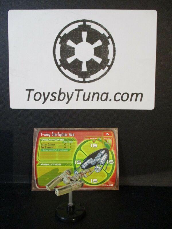Star Wars Miniatures Starship Battles Y-wing Starfighter Ace w/ Card mini RPG