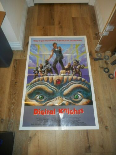 DIGITAL KNIGHTS (THE DUNGEONMASTER) - ORIGINAL FOLDED POSTER - 1984