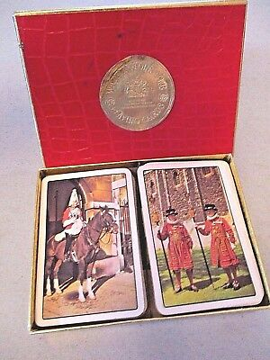 Used, Vintage WADDINGTONS Fine Playing Cards DOUBLE DECK No Jokers BRITISH GUARDS for sale  Gobles