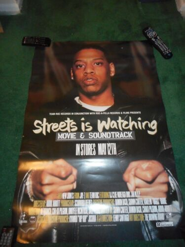 JAY-Z - STREETS IS WATCHING - ORIGINAL SS ROLLED POSTER - 1998