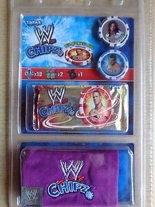 WWE Chipz / Topps / Starterkid OVP / 8 + 2 Chipz / Lila  Bag/Beutel / Neu