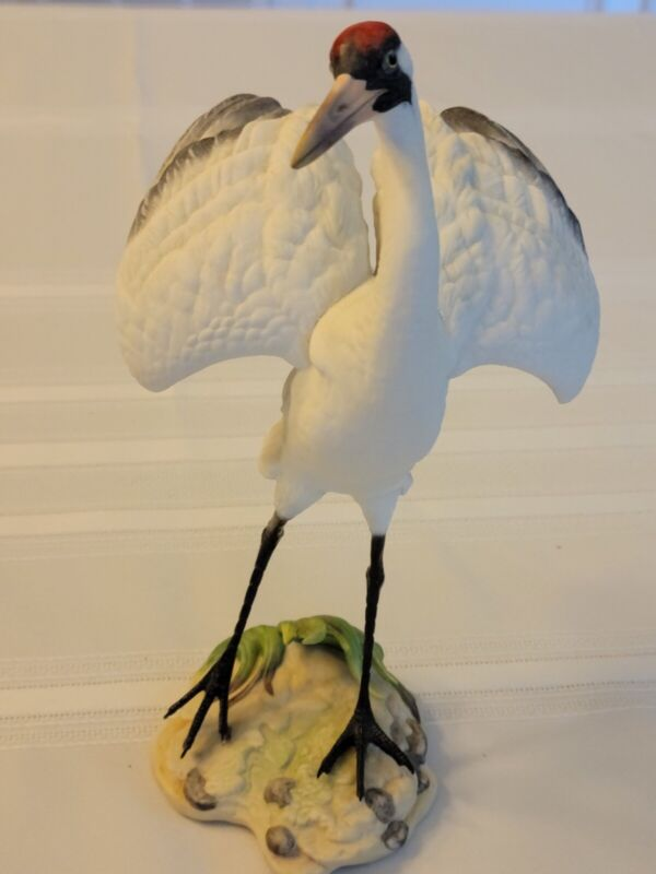 porcelain figurine, Boehm, Whooping crane, Wading Bird Series