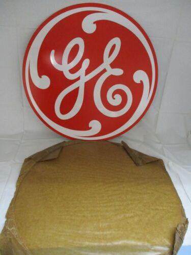 Vintage General Electric Disc 24 inch Sign Metal  W/ Orig Paper  NOS GAS OIL