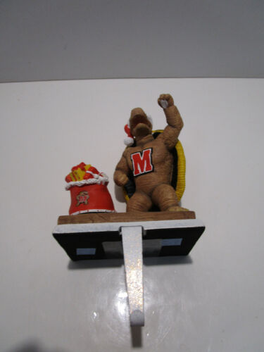 College Treasures Stocking Hanger Mascot with Stocking -  Maryland Terrapins