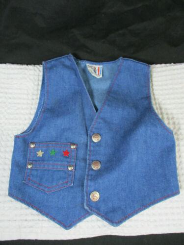 vintage Billy The Kid childrens denim western snap vest 70s size 3T