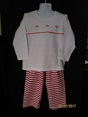 NWT RED & WHITE HOLIDAY BOYS TWO PIECE OUTFIT TODDLER. 3 & 4 COTTON KNIT SWEET D Cotton Knit Two Piece