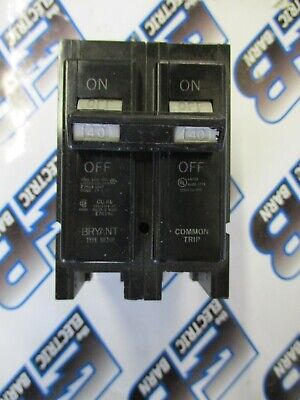 Bryant Br240 40 Amp 240 Volt 2 Pole Plug-in Circuit Breaker- New-s