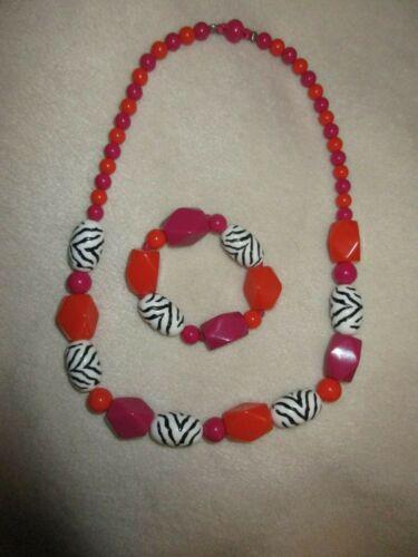 Gymboree Wild For Zebra Necklace Bracelet Lot