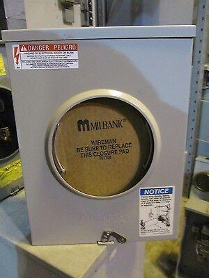 Milbank U200 200 Amp 1 Phase Ringless Meter Socket- New