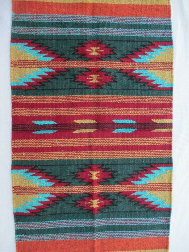 Southwestern Style  Mat  Wall Hanging  Small Rug  Table Covering  20 X 40 inch