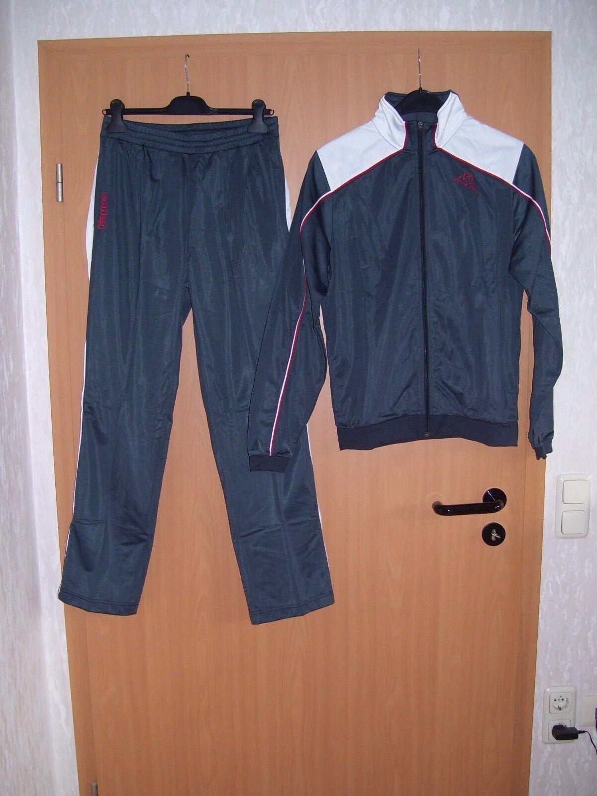 Kappa Trainingsanzug Herren Jogginganzug Jacke und Hose Sportanzug grau S XL neu
