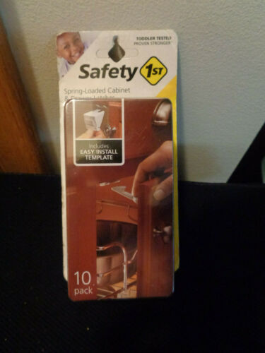 Safety 1st Spring Loaded Cabinet & Drawer Latches 10 Pack  NEW Sealed