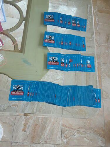 100 New Unopened 2020 Acme ~ Albertsons ~ Safeway   Monopoly Tickets + AMC Drink