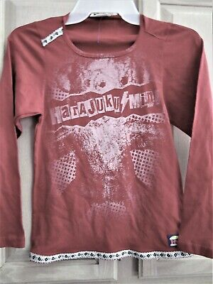 HARAJUKU MINI  GIRLS GRAPHIC BOTH SIDES  RED TOP ADORABLE  BRAND NEW  MED??  - Harajuku Mini Girls