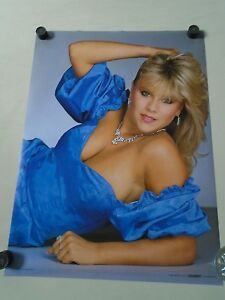 Samantha Fox - Orig. Vintage Poster - Blue dress #8653 / Exc.+New cond. 20 x 28