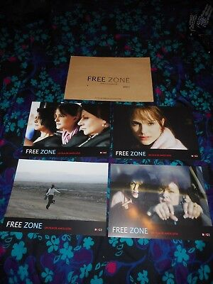 FREE ZONE - 4 ORIGINAL FRENCH LOBBY CARDS - NATALIE PORTMAN - 2005