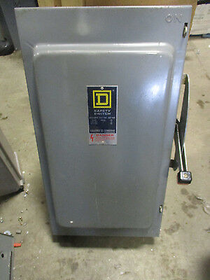 Square D H224 200 Amp 240v Fusible 1 Phase Disconnect Series D2- New