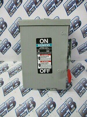Siemens Gf221nr 30 Amp 240 Volt 1ph 3w Fusible Nema 3r Disconnect - New-s