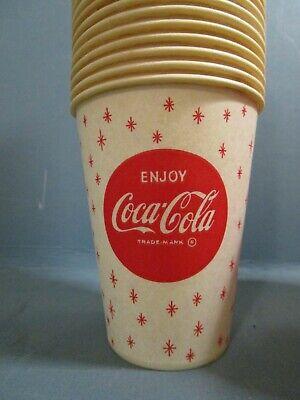 27 Original Vintage Coca Cola Coke Soda POP Retro Décor Wax Paper Cups 8 oz.
