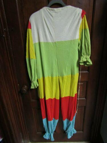 Vintage Heavy Cloth Handmade Adult Clown Costume- Nice Older Piece