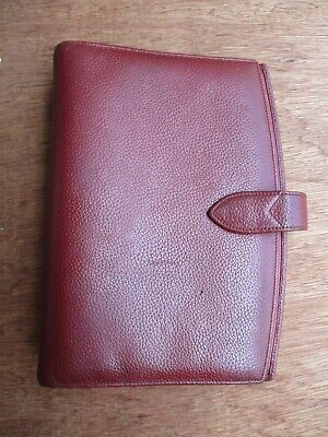 Coach A5 Made Italy Authentic 6 Ring Small Brown Genuine Leather Binder Agenda