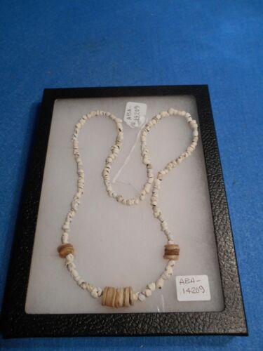 Ancient Hohokam/Anasazi Shell Necklace w/large Beads RESTRUNG  ABA - 14209