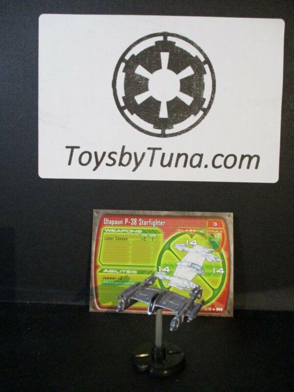 Star Wars Miniatures Starship Battles Utapaun P-38 Starfighter w/ Card mini RPG