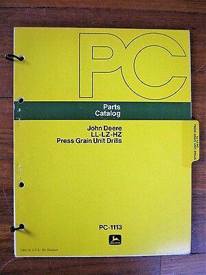 John Deere Ll Lz Hz Grain Drill Parts Catalog Manual