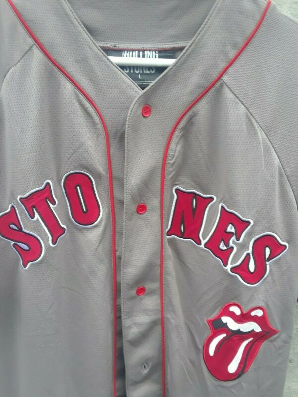 Rolling Stones Baseball Jersey Gray Size Large