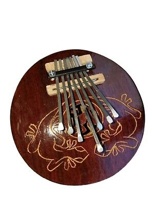Black Handcarved Gecko Aboriginal Design Coconut Shell Kalimba Thumb Piano