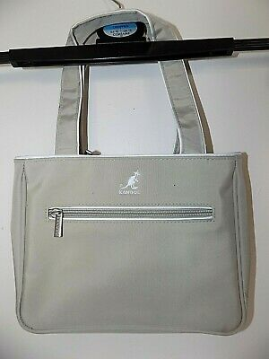 Retro Beige Taupe Kangol Small Tote Handbag Excellent Condition