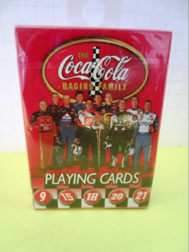 Coca Cola Racing Family Nascar Playing Cards
