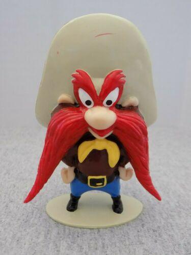 "Vtg Yosemite Sam Figurine Hands on Hips 3.75"" Rubber Warner Bros Looney Tunes"