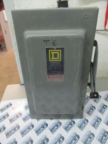SQUARE D HU363 SERIES D, 100 AMP, 600 VOLT, 3 POLE, DISCONNECT