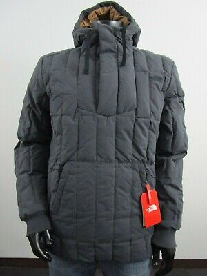 Mens The North Face Down O Baja Parka Hooded Insulated Anorak - Weathered Black