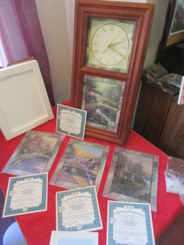 Bradford Exchange Thomas Kinkade Time for All Seasons Clock, Stained Glass